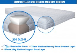 Comfortlux Deluxe Memory 200 Mattress (50kg medium density memory foam)