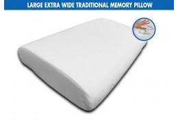 Comfortlux LARGE EXTRA WIDE TRADITIONAL MEMORY PILLOW