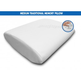 COMFORTLUX MEDIUM TRADITIONAL MEMORY PILLOW