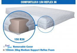 Comfortlux Deluxe 150 Foam Mattress (36kg medium density Reflex foam)