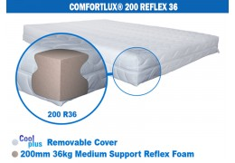 COMFORTLUX DELUXE 200 FOAM MATTRESS (36KG MEDIUM DENSITY REFLEX FOAM)